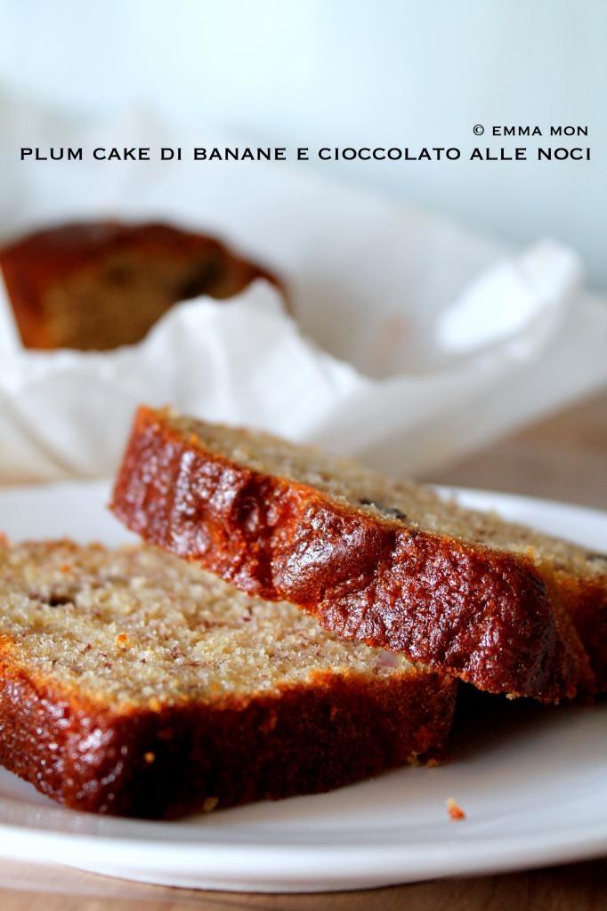 Mon'Em Cuisine: Plum cake di banane e cioccolato alle noci