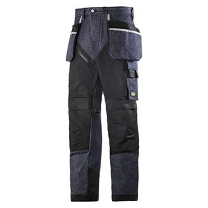 RuffWork Denim, Work Trousers Holster Pockets — Snickers Workwear