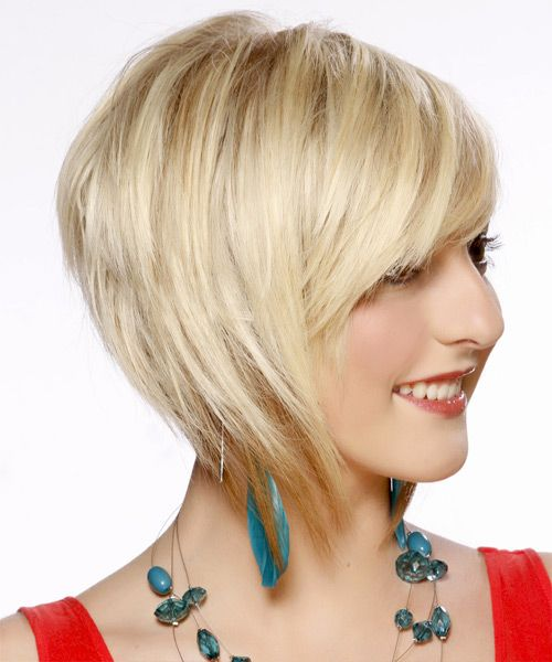 bob hairstyle back view   Formal Short Straight Hairstyle - Light Blonde Bob - 13027 ...