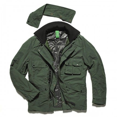 Waxed Field Coat - Military Green