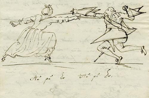 Teckning av Carl August Ehrensvärd år 1790