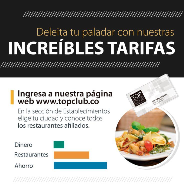 Ingresa a nuestra página web www.topclub.co y comprueba por qué TopClub es tener más. #MomentosÚnicos #TopClub #Gastronomía #Ahorro
