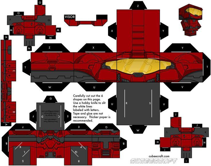 Spartan - Red Team (Halo) Cubeecraft