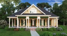 House Plan 65988 | Cottage Southern Plan with 1832 Sq. Ft., 3 Bedrooms, 3 Bathrooms