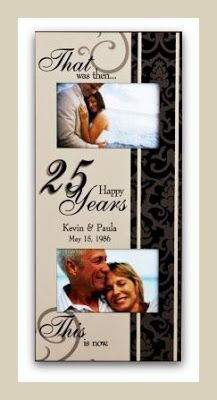 25th anniversary Now & Than Photo Frame. #25th #anniversary #gifts