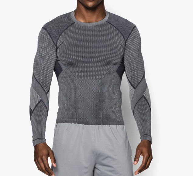 Mens Under Armour® Transform Yourself Pietro Seamless Long Sleeve  Compression Shirt - Under Armour