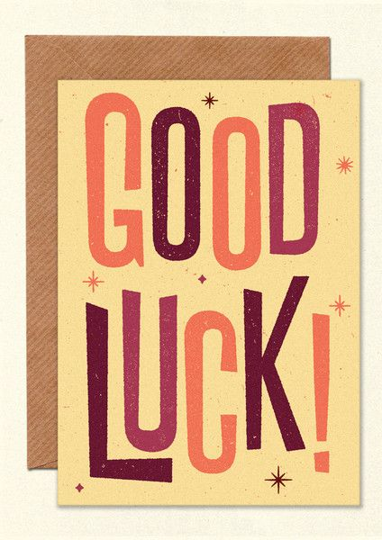 11 best Illustration - Good Luck images on Pinterest Good luck - good luck cards to print