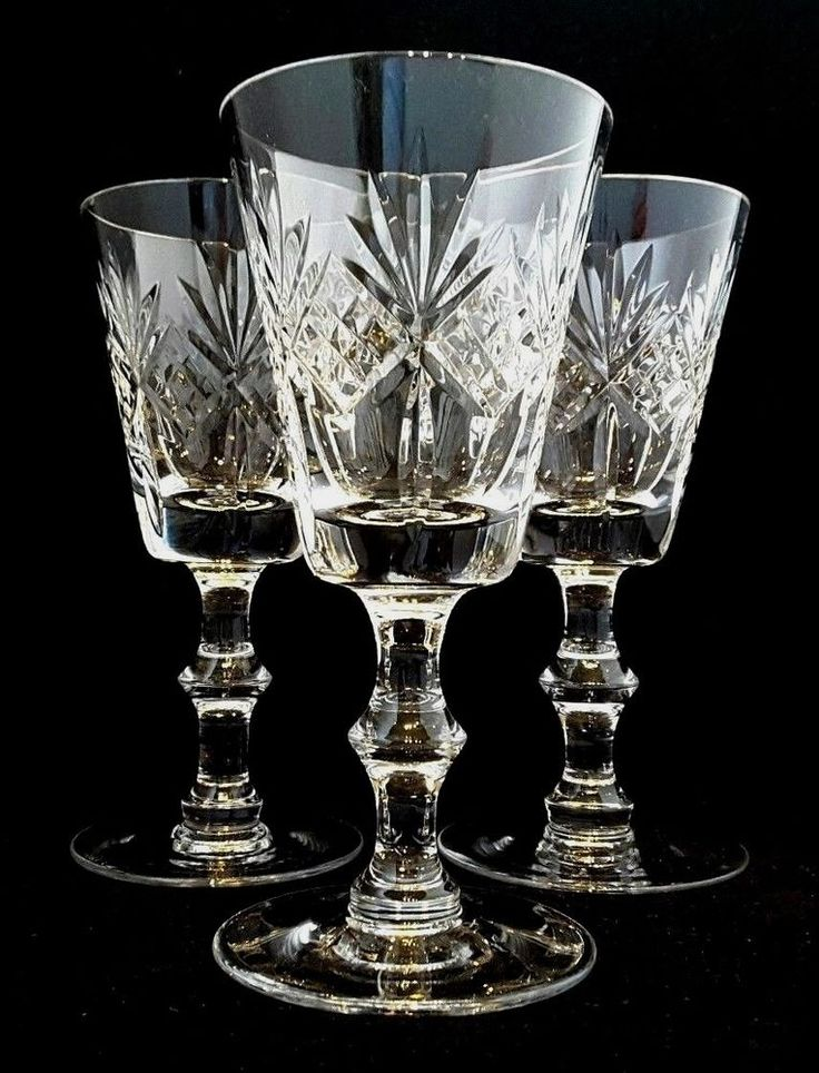 #Edinburgh #Crystal~#Scotland~THREE~#Kingston~Hand-Cut #Crystal~#Sherry~#Port Glasses #NewYear #Party #Family #Friends #Style #Stylish #Art #USA #UK #London #Paris #Scottish #Glasgow #Highlands