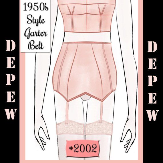5af34449bc6 Vintage Sewing Pattern French 1950s Pin Up Corset Garter Belt Digital  Pattern Depew 2002-INSTANT DOW