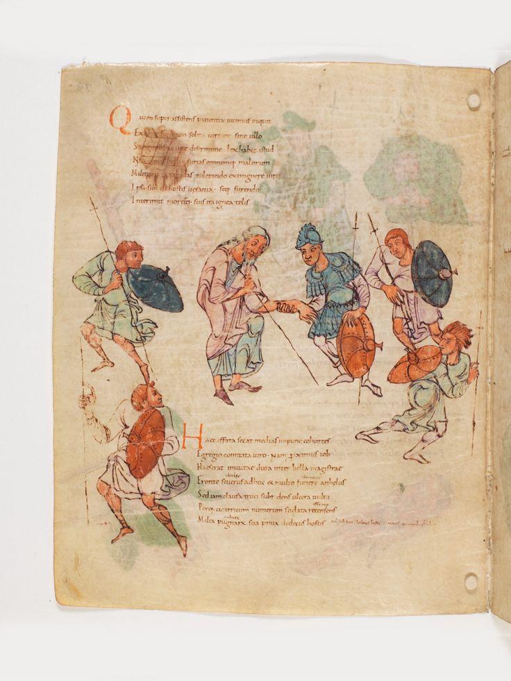 Bern, Burgerbibliothek, Cod. 264, Prudentius, Carmina, p.80, region of Lake Constance, around 900