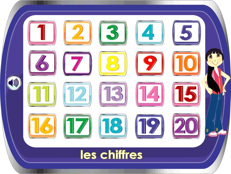 Learn the numbers in French.  With audio.