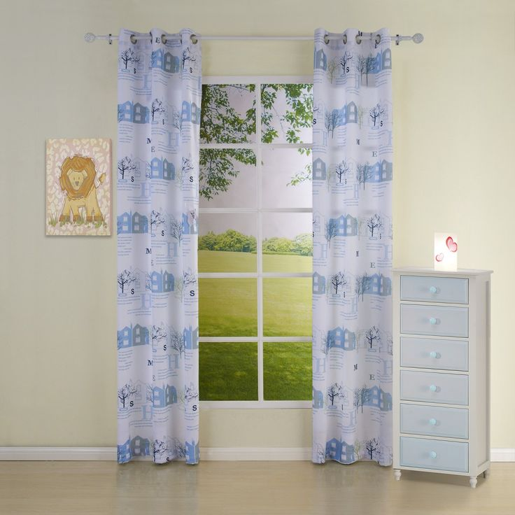 Floral Country Blue Kids Curtains  #kids #curtains #homedecor #nursery #custommade