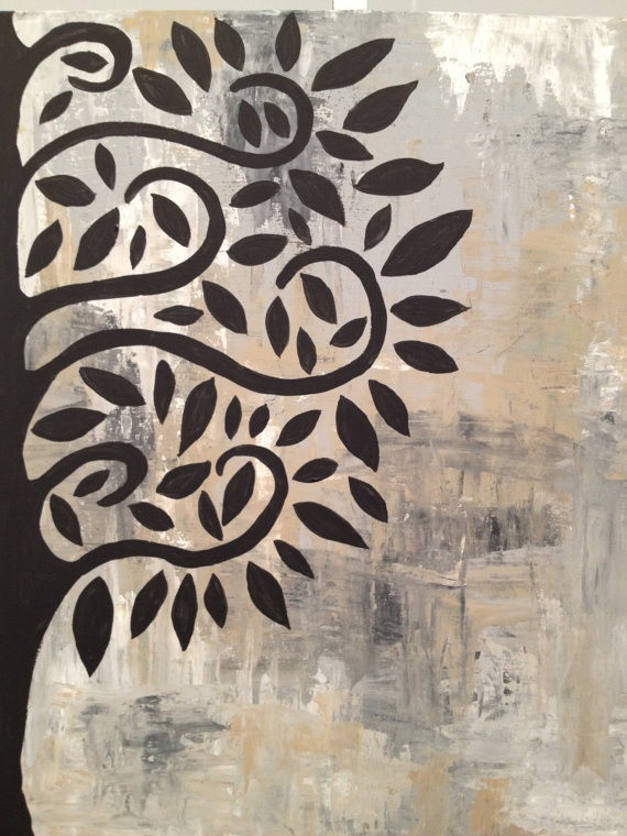 Tree PaintingOriginal Acrylic modern art  16x20 by by GinnArt, $90.00