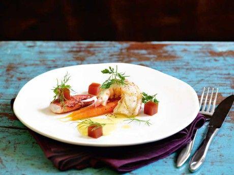 Lobster salad with lemon mayonnaise