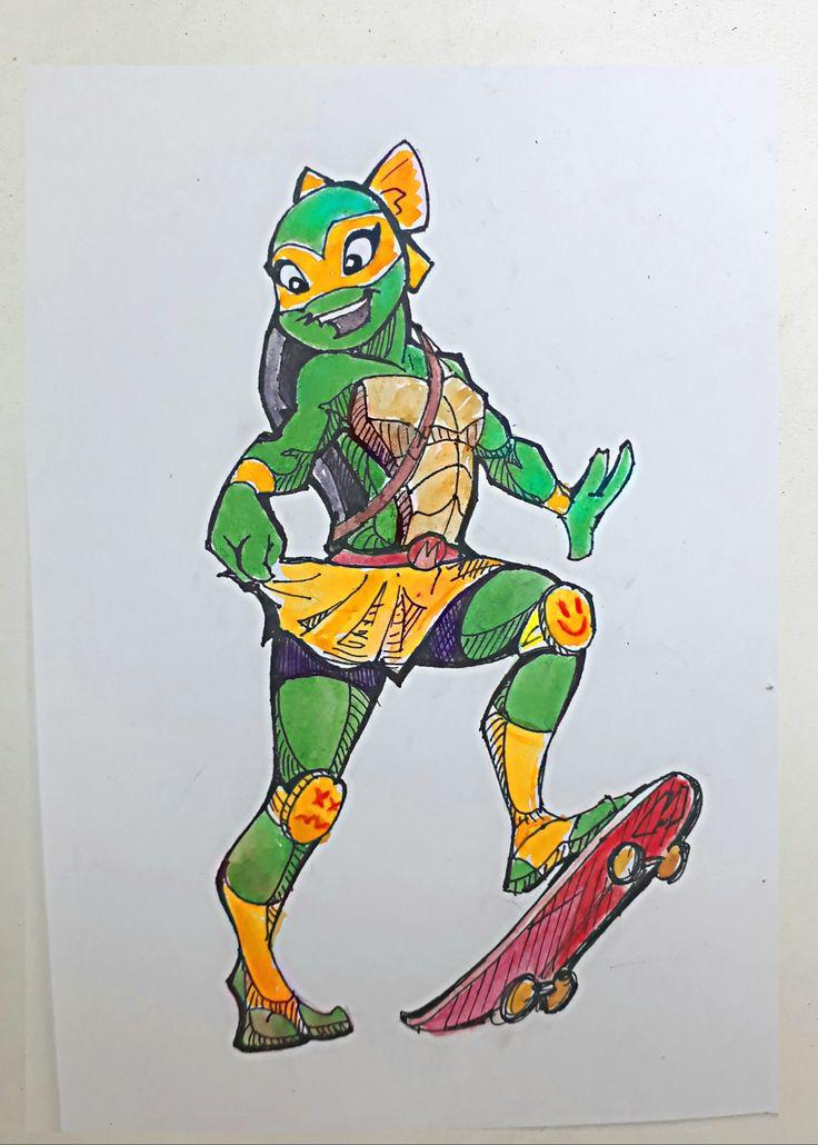 Mikey - gurl 🐢; teenager mutant ninja turtles | Ninja ...
