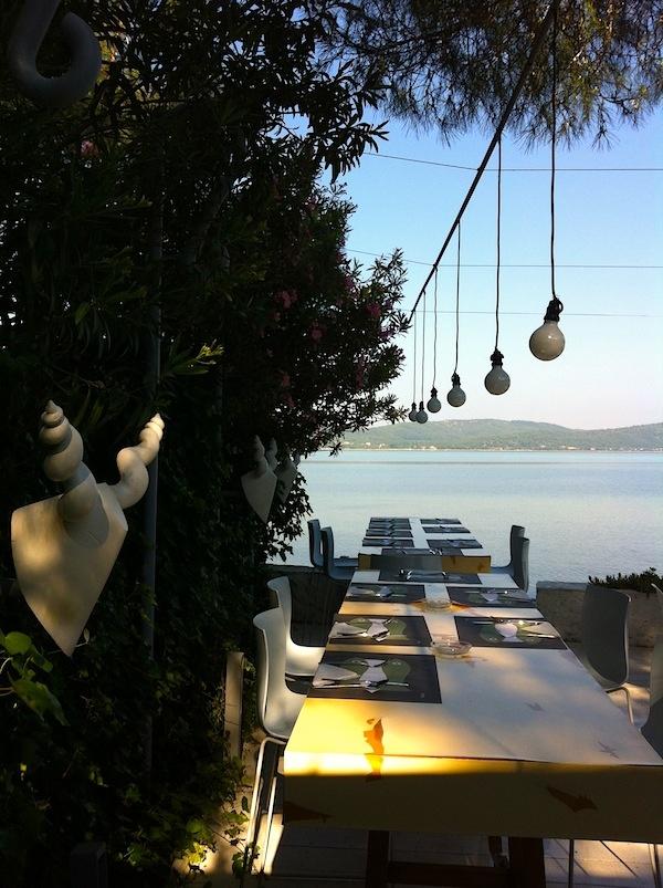 Breakfast seaside style at Ekies All Senses Resort in Sithonia, Greece: http://www.ekies.gr/ (photo by Abigail Doan)