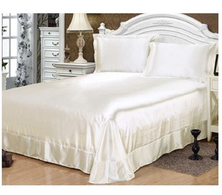 Bed Sheet set Silk bedding sets Chinese satin sheets bedspreads bedsheet solid Cal king size queen full twin Customize 3PCS