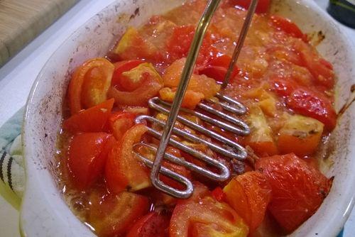 Geroosterde tomatensaus. Fantastisch met Pasta (glutenvrij, of spelt, als je 't hebben kan!)