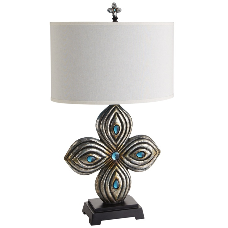 Pier 1 Turquoise Dazzle Lamp Home Decor Furniture