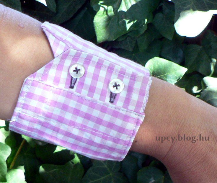 Recycling shirt - wrist wallet. Újrahasznosított férfiing: csuklópénztárca.
