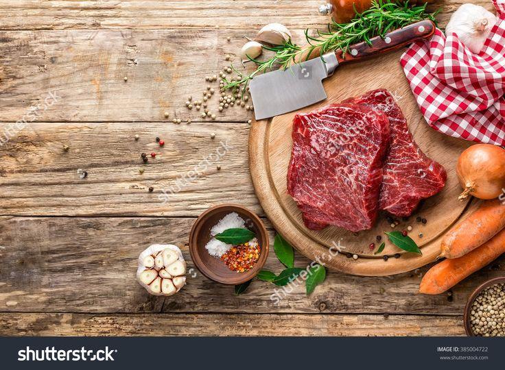 raw meat beef steaks