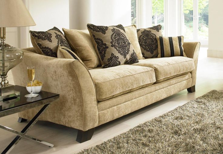 The Hennessey Seater Is A Smart Patterned Sofa With A Cosy Feel