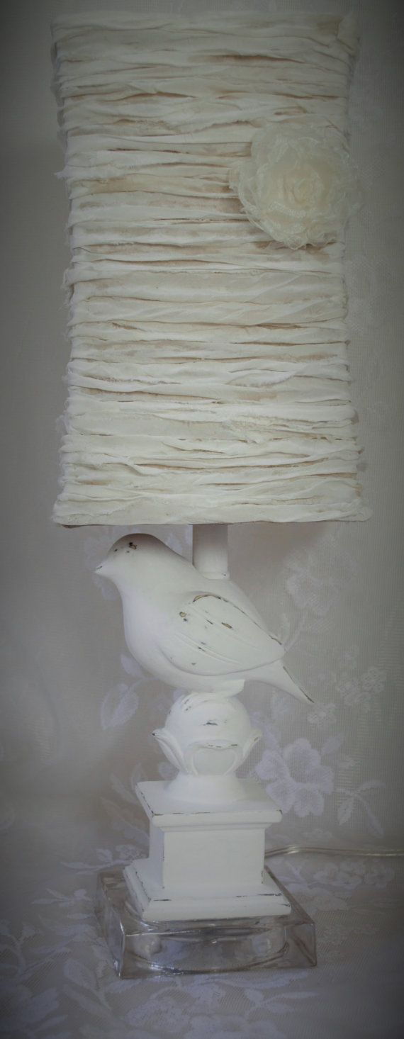 Shabby Chic Bedroom Lamp French Boudoir OOOOLALA by upcyclesisters, $75.00