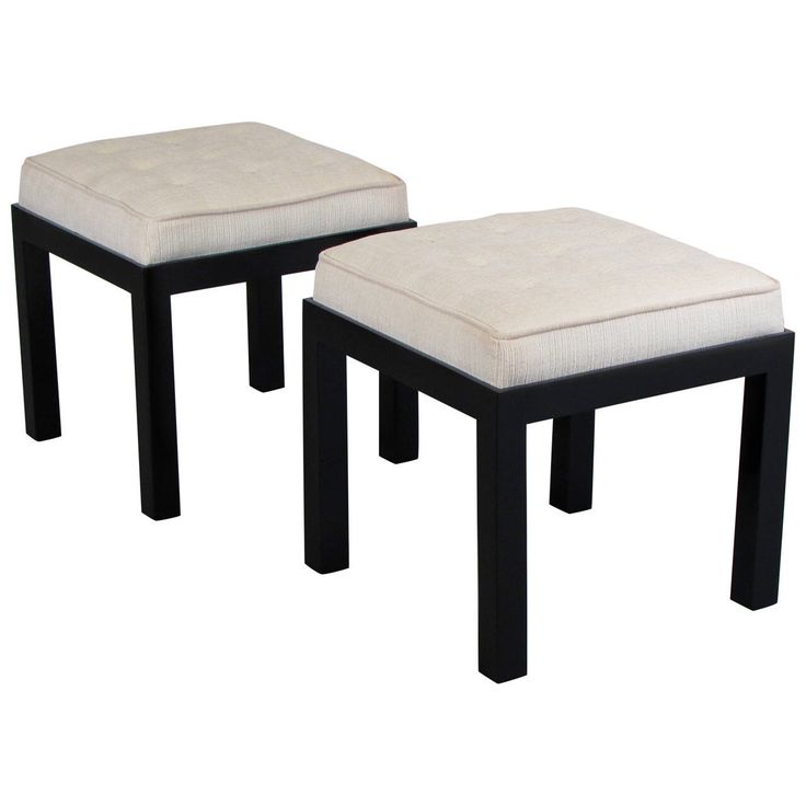 Handsome Upholstered Stools or Benches in the Style of Harvey Probber, 1960s | See more antique and modern Stools at https://www.1stdibs.com/furniture/seating/stools