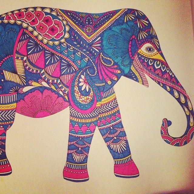 Yoga Art Mandala Adult Coloring Books Animal Kingdom Elephant Elephants Mandalas Embroidery