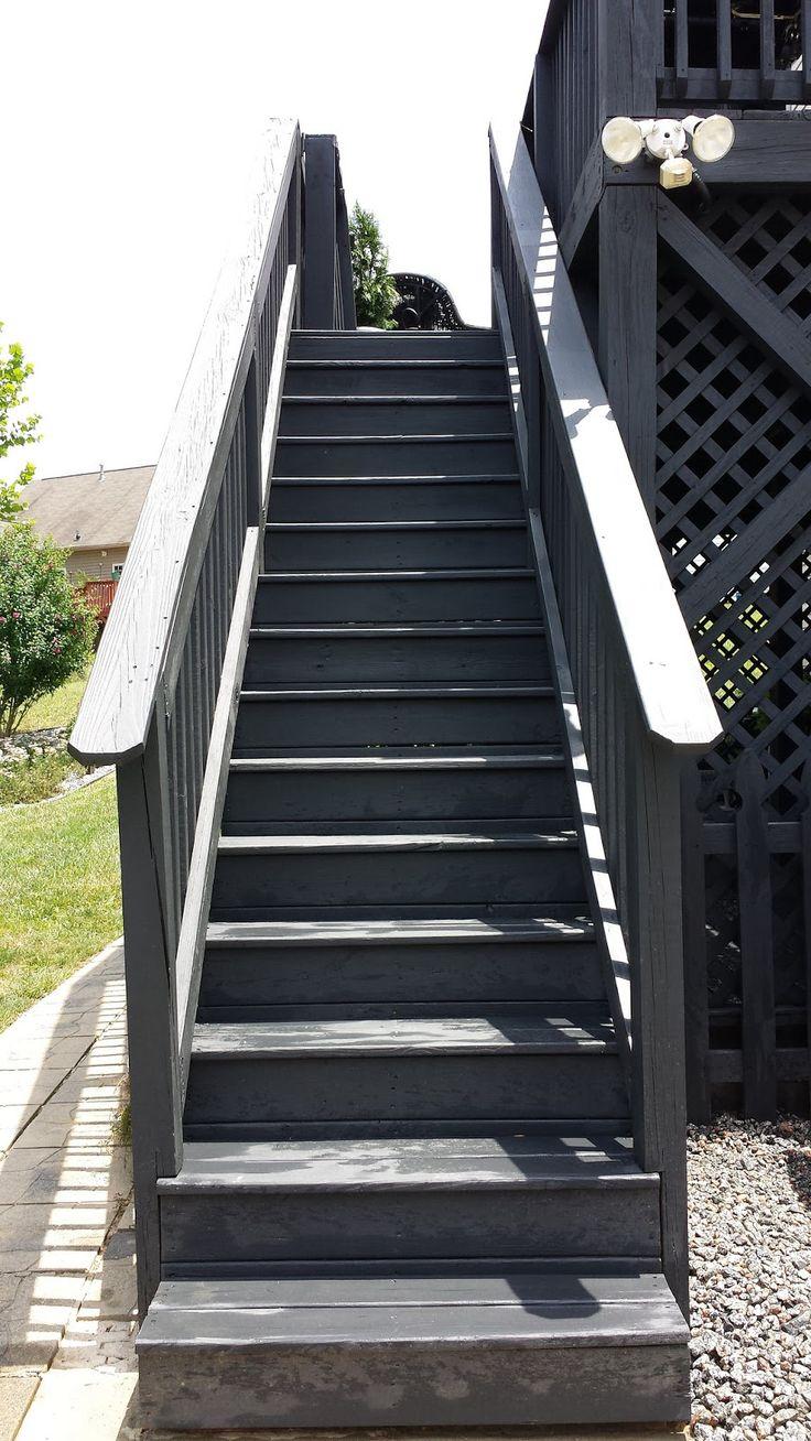 Before & After Black Slate Stain Deck & Repair Pergola