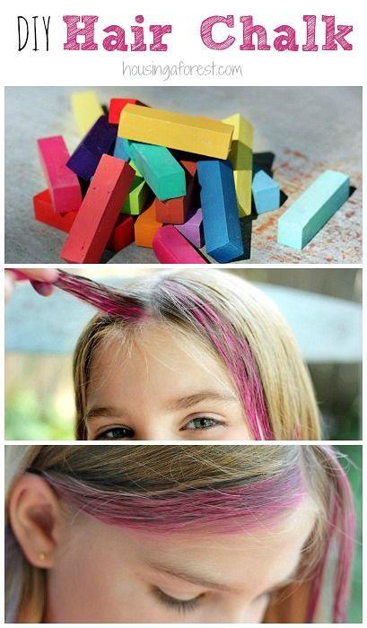 How To Chalk Hair Diy Washable Hair Color Hair