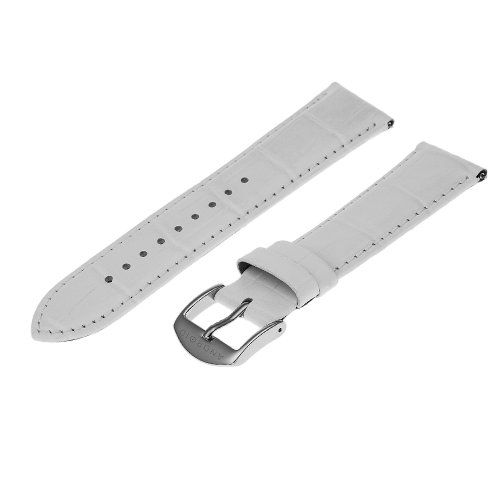 Android 22L SC2 W 22 -mm Ladies White Genuine Leather 22mm Watch Strap | Pebble Watch Bands