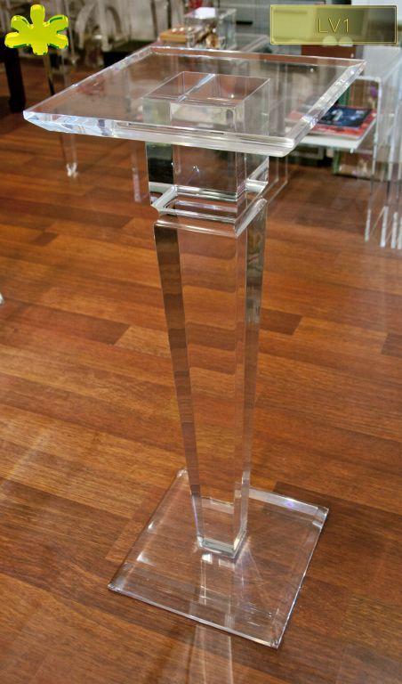 COLONNE IN PLEXIGLAS | Colonna in plexiglas 05.mod.  LV1 | Colonne plexiglass fusto diam.cm.12 - piani cm.30 x 30 sp.cm.2.5 - h.tot.cm.82
