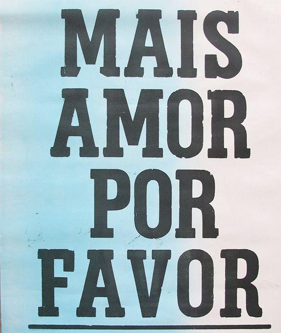 poster mais amor por favor