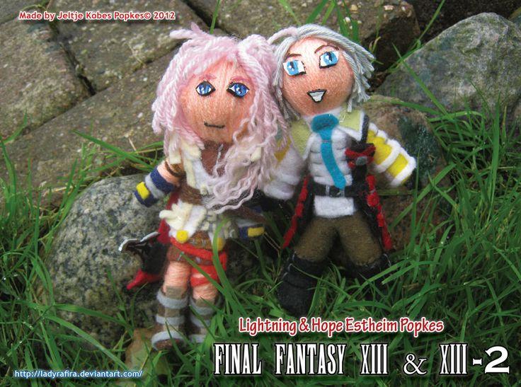 Hope and Lightning Popkes - Final Fantasy XIII - XIII-2