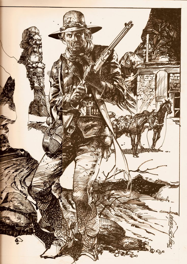 Tony de Zuniga - his Jonah Hex was the definitive one. Dark, complex, dirty and brilliant. (1000×1414)  [Comments: Marius Vibe]  #comics #art
