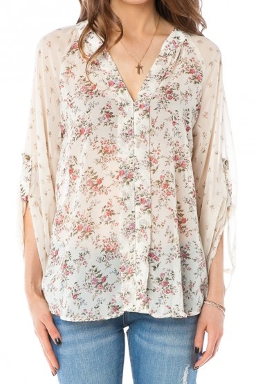 Floral print blouses.