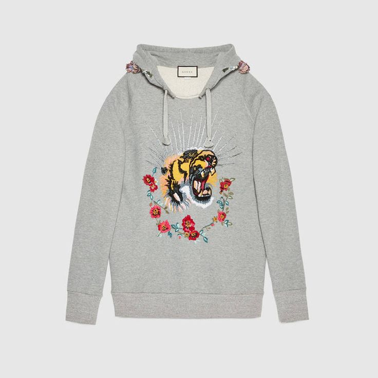 Embroidered hooded sweatshirt