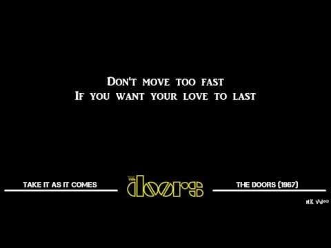 Lyrics for Take It As It Comes - The Doors  sc 1 st  Pinterest & 40 best THE DOORS BEST images on Pinterest | Lyrics Music lyrics ...