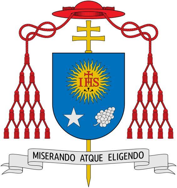 "File:Coat of arms of Jorge Mario Bergoglio.svg - ""Miserando Atque Eligendo""- Lowly, yet Chosen"
