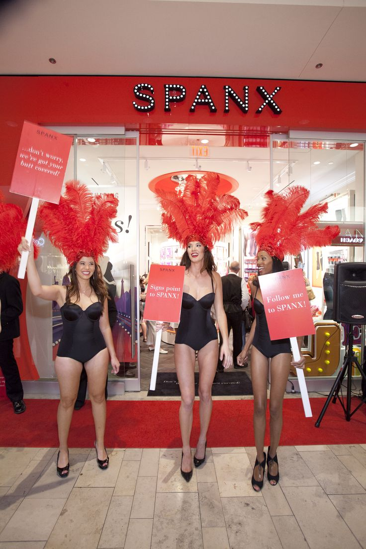 Showgirls and Spanx-ters alike celebrated Sin City's first Spanx store! #SpanxOpens #Vegas