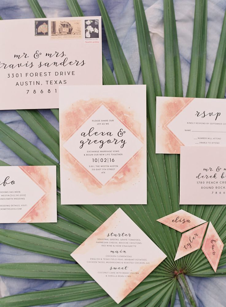 spanish wedding invitations uk%0A wedding invite suite from Tropical Wedding inspiration in Austin  Texas