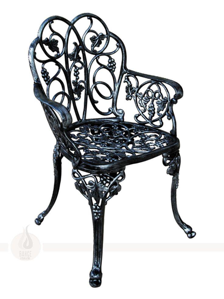 Dekoratif Motifli Döküm Sandalye - BA-008