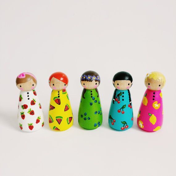 Hey, I found this really awesome Etsy listing at https://www.etsy.com/listing/197495962/set-of-5-fruity-farmers-market-peg-dolls