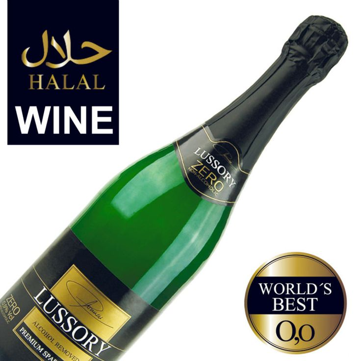 #Lussory  premium Non alcoholic sparkling halal wine