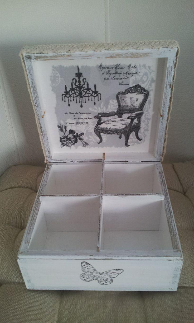 *Vintage look Decoupage Box*