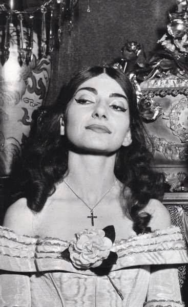 Maria Callas, a singer of more than a thousand faces, but this is one expression I've never seen on her before!