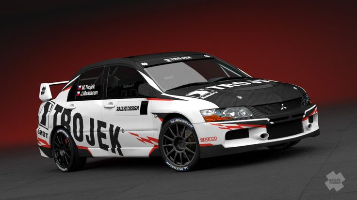 Trojek Racing - redesign of Mitsubishi Lancer Evo IX for season 2013.
