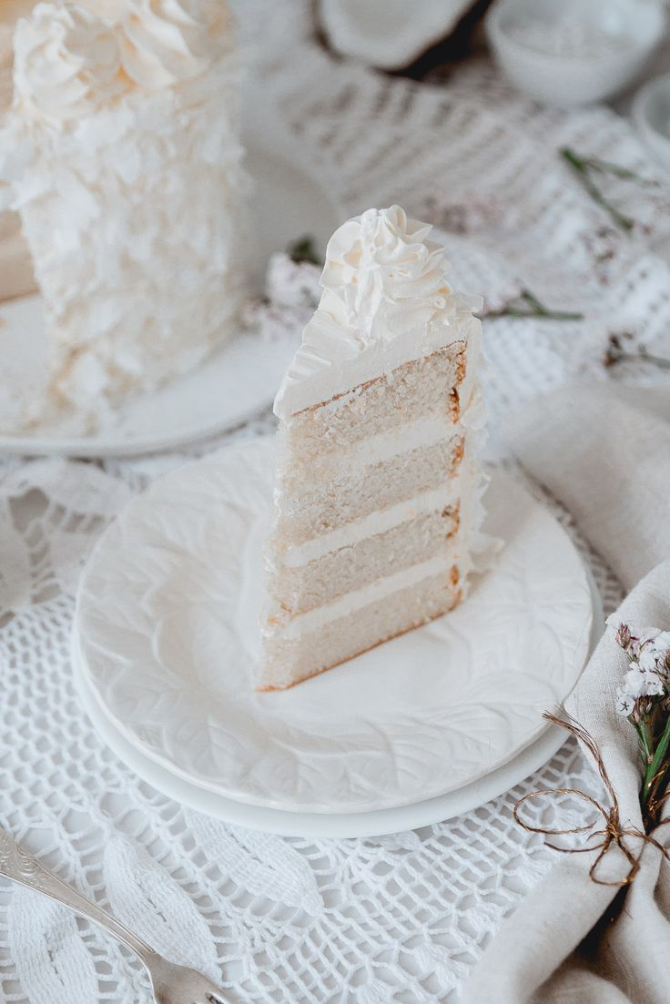 Super White Coconut Cake 190 g Cake Flour 170 g Superfine sugar 30 g Powdered milk 1 tbsp Baking powder 1/2 tsp Salt 35 g Unsalted Butter 80 g Coconut Oil 90 g Egg Whites ( About 3 large egg…