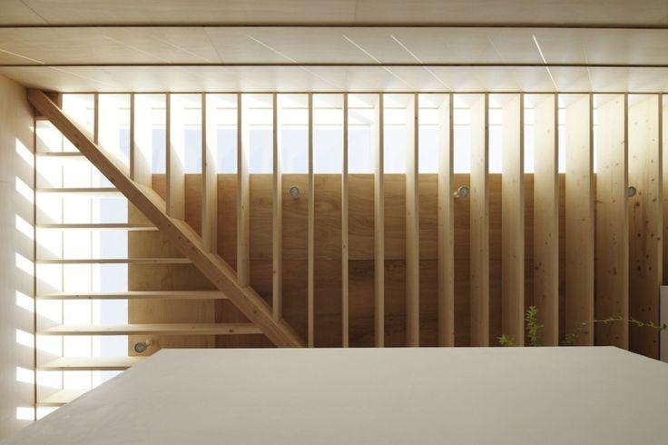 Japanese Minimalist Home Design Ideas: Wood Ceiling Slats Japanese Minimalist Home Design ~ interhomedesigns.com Interior Design Inspiration